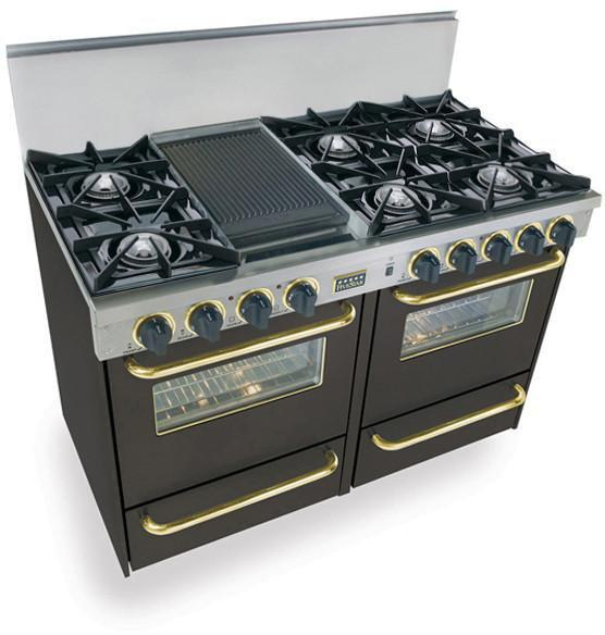 Fivestar Tpn5107bw 48 Quot Pro Style Lp Gas Range With 6 Open