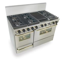 Brand: FiveStar, Model: WTN5377W, Color: Stainless Steel with Brass Package