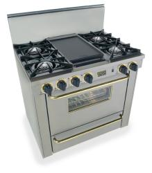 Brand: FiveStar, Model: TTN3107, Color: Stainless Steel with Brass Package