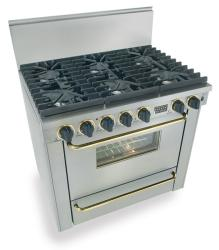 Brand: FiveStar, Model: TTN3117W, Color: Stainless Steel with Brass Package