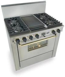 Brand: FiveStar, Model: TPN3377BSW, Color: Stainless Steel with Brass Package