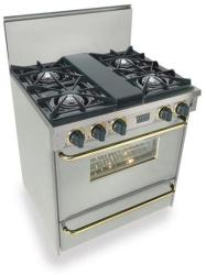 Brand: FiveStar, Model: TTN2607BW, Color: Stainless Steel with Brass Package