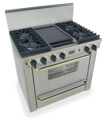 Brand: FiveStar, Model: WPN3317SW, Color: Stainless Steel with Brass Package