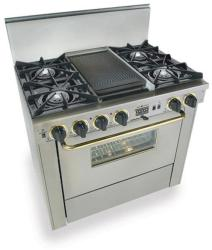 Brand: FiveStar, Model: TPN3257BSW, Color: Stainless Steel with Brass Package