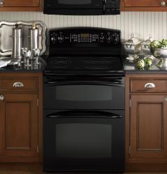 Brand: General Electric, Model: PB975SPSS, Color: Black with Black Glass Door