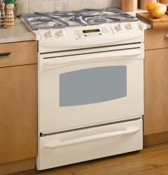 Brand: GE, Model: PGS908WEMWW, Color: True Bisque
