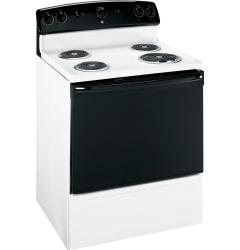 Brand: GE, Model: JBS03MWH, Color: White with Black Glass Door