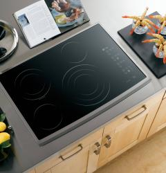 Brand: GE, Model: PP945, Color: Black Surface with Stainless Steel Trim