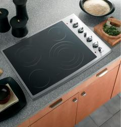 Brand: GE, Model: PP942SMSS, Color: Black Surface with Stainless Steel Trim