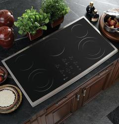 Brand: GE, Model: PP980BMBB, Color: Black Surface with Stainless Steel Trim