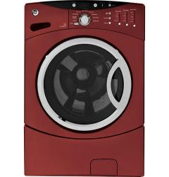 Brand: GE, Model: WCVH6800JMR, Color: Vermillion Red