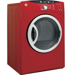 Brand: GE, Model: DCVH680EJWW, Color: Metallic Red