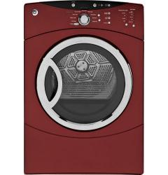 Brand: GE, Model: DCVH680EJWW, Color: Vermilion Red
