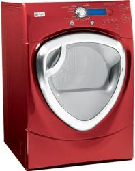 Brand: GE, Model: DPVH890EJ, Color: Vermillion Red