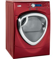 Brand: GE, Model: DPVH880EJMV, Color: Vermilion Red