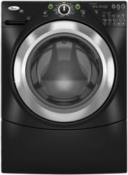 Brand: Whirlpool, Model: WFW9400ST, Color: Black with Brushed Chrome Accents