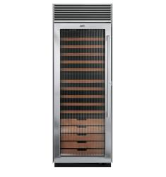 Brand: Viking, Model: DDWB301FLSS, Style: Fluted Glass Door, Left Hinge Door Swing