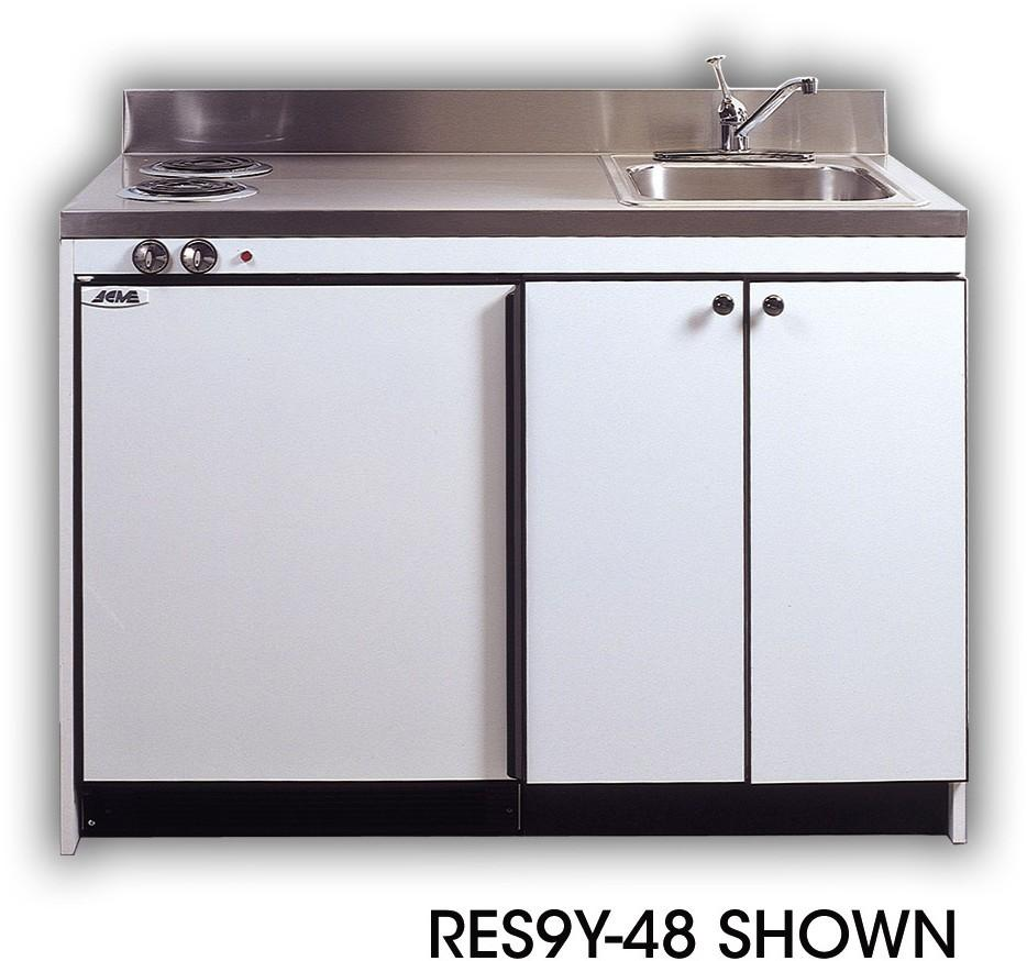 Rgs acme rgs efficiency kitchenettes compact kitchens for Kitchenette cabinets
