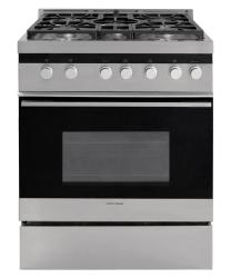 Brand: Fisher Paykel, Model: OR30SLDGX, Fuel Type: Liquid Propane