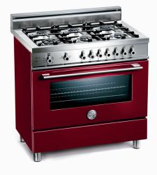 Brand: Bertazzoni, Model: X365GGVBL, Fuel Type: Burgundy, Natural Gas
