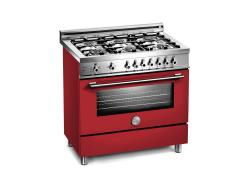 Brand: Bertazzoni, Model: X366PIRGILP, Fuel Type: Burgundy, Natural Gas