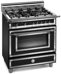 Brand: Bertazzoni, Model: H304GGVCRLP, Fuel Type: Matte Black, Natural Gas