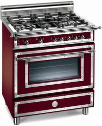 Brand: Bertazzoni, Model: H304GGVCRLP, Fuel Type: Matte Burgundy, Natural Gas