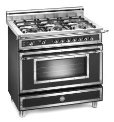 Brand: Bertazzoni, Model: H366GGVCR, Fuel Type: Matte Black, Natural Gas