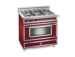 Brand: Bertazzoni, Model: H366GGVCR, Fuel Type: Matte Burgundy, Natural Gas