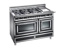 Brand: Bertazzoni, Model: H486GGGVNE, Fuel Type: Matte Black, Natural Gas