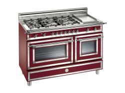 Brand: Bertazzoni, Model: H486GGGVNE, Fuel Type: Matte Burgundy, Natural Gas