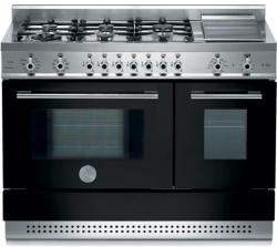 Brand: Bertazzoni, Model: X486GPIRROLP, Color: Black, Natural Gas