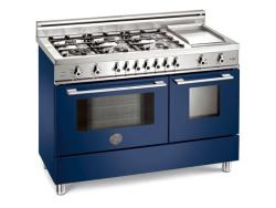 Brand: Bertazzoni, Model: X486GPIRROLP, Color: Blue, Natural Gas