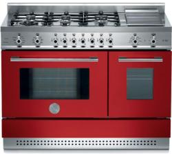 Brand: Bertazzoni, Model: X486GPIRVELP, Color: Red, Natural Gas