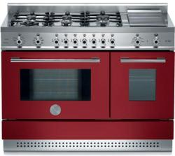 Brand: Bertazzoni, Model: X486GPIRVELP, Color: Burgundy, Natural Gas