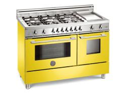 Brand: Bertazzoni, Model: X486GPIRVELP, Color: Yellow, Natural Gas