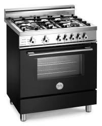 Brand: Bertazzoni, Model: X304PIRVI, Color: Black, Natural Gas