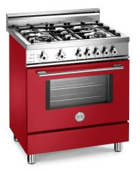 Brand: Bertazzoni, Model: X304PIRVI, Color: Red, Natural Gas