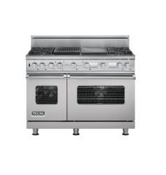 Brand: Viking, Model: VDSC548T4GQBK, Color: Metallic Silver