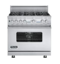 Brand: Viking, Model: VDSC536T6BSG, Fuel Type: Stainless Steel, Natural Gas
