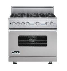 Brand: Viking, Model: VDSC536T6BCW, Fuel Type: Metallic Silver