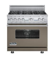 Brand: Viking, Model: VDSC536T6BSG, Fuel Type: Stone Gray, Natural Gas