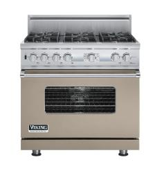 Brand: Viking, Model: VDSC536T6BSG, Fuel Type: Taupe