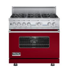 Brand: Viking, Model: VDSC536T6BSG, Fuel Type: Apple Red, Natural Gas