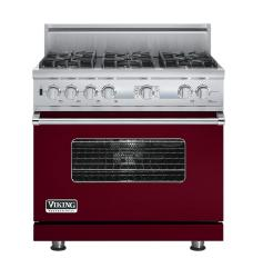 Brand: Viking, Model: VDSC536T6BCW, Fuel Type: Burgundy, Natural Gas