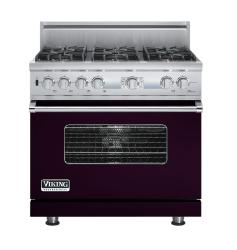 Brand: Viking, Model: VDSC536T6BSG, Fuel Type: Plum