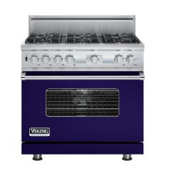 Brand: Viking, Model: VDSC536T6BSG, Fuel Type: Cobalt Blue, Natural Gas