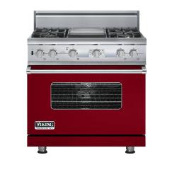 Brand: Viking, Model: VDSC536T4GSA, Color: Apple Red
