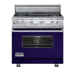 Brand: Viking, Model: VDSC536T4QAR, Color: Cobalt Blue