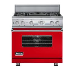 Brand: Viking, Model: VDSC536T4QAR, Color: Racing Red